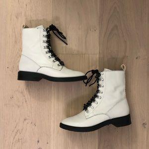 Dolce Vita White Laceup boots